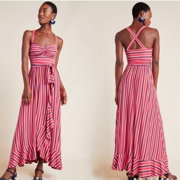 Maeve Dresses & Skirts - Maeve by Anthropologie small pink combo maxi NWT
